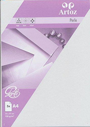 Artoz Papier AG - Perle Papier A4 (120g/m²) 5er-Pack weiß