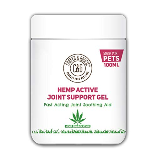 C&G Pets | Hemp Active Joint Support Gel 100ML | Muscle & Joint Care | Fast Acting Formula for Cats Dogs & Pets | ENHANCES Mobility Flexibility | Support Stiff and AGEING Joints