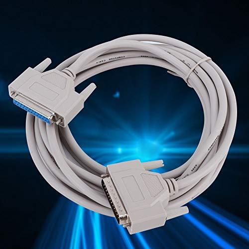 Cable de extensión paralelo de cobre de 4,5 m/14,8 pies, cable de extensión paralelo de 25 pines Db9 macho a hembra, línea de datos...