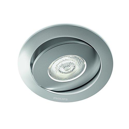 Philips 591804816 Asterope Luminaire d'Intérieur Spot Encastrable LED Métal Aluminium 4,5 W