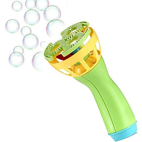Domeilleur Electric Bubble Wands Machine Bubble Automatic Blower Mini Fan Outdoor Toys for Kids