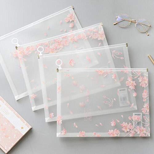1 Stuk Kawaii Sakura A4 Papieren Boeken Organizer Tas Office File Folder School Potlood Opbergdoos briefpapier Leveringen,1 Stuk in Willekeurig