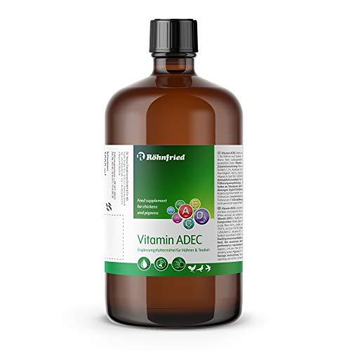 Röhnfried Vitamin ADEC 1000 ml | Vitaminkonzentrat | Futterergänzungsmittel für die Vitaminversorgung von Hühnern, Tauben & Geflügel