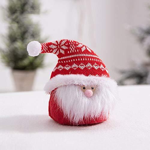 Muñeca enana del Día de San Valentín decoración de barba blanca muñeca sin rostro encantadora de tela sombrero de punto muñeca sin rostro 1 piezas
