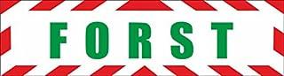 INDIGOS UG   Magnetschild Förster mit Rahmen 30 x 8 cm reflektierend   Magnetfolie für Auto/LKW/Truck/Baustelle/Firma