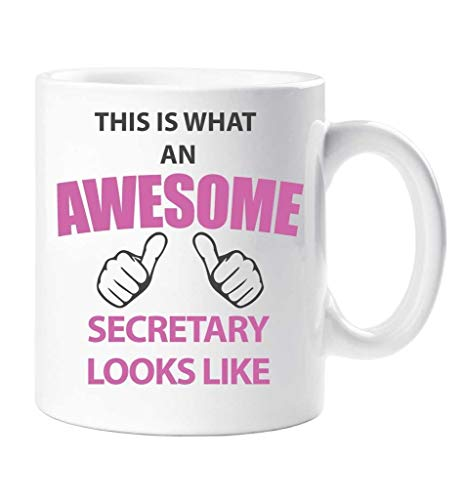60 Second Makeover® - Taza con texto en inglés This Is What An Awesome Secretary Looks Like Taza, regalo de cumpleaños y Navidad