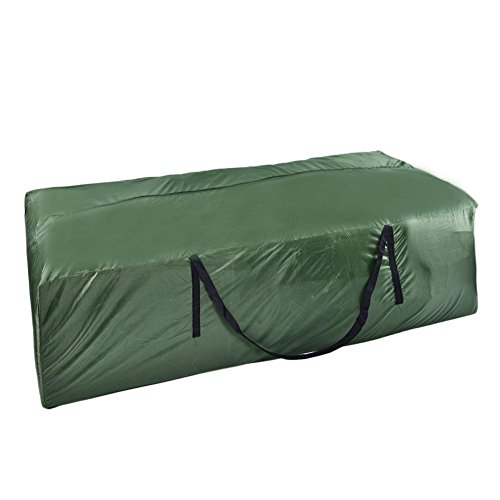 Ruier-hui Garden Furniture Cushion Storage Bag, Outdoor Waterproof Multifunction Protective Cover with Carry Handle (Green)