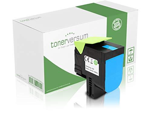 Cartucho de tóner Compatible con Lexmark 71B20C0 para CS317dn CS417dn CS517de CX317dn CX417de CX517de 71B20, Color Cian