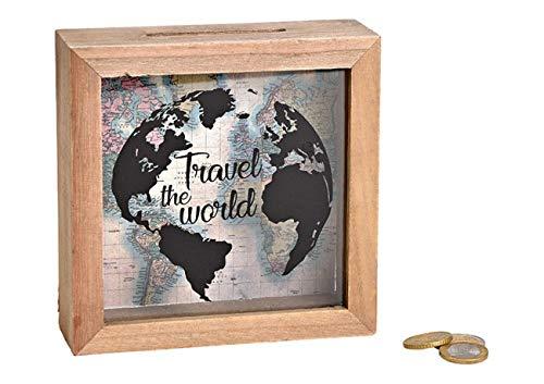 MC Trend - Hucha Forma Taza Viaje Texto inglés Travel