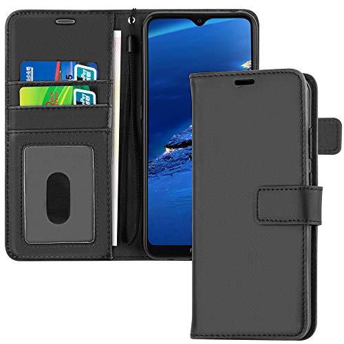 TECHGEAR Leder Hülle Nokia 5.3 - PU Leder Flip Hülle Schutzhülle Ledertasche [Brieftasche] Handyhülle mit Ständer & Handschlaufe Beutel kompatibel mit Nokia 5.3 - Schwarz