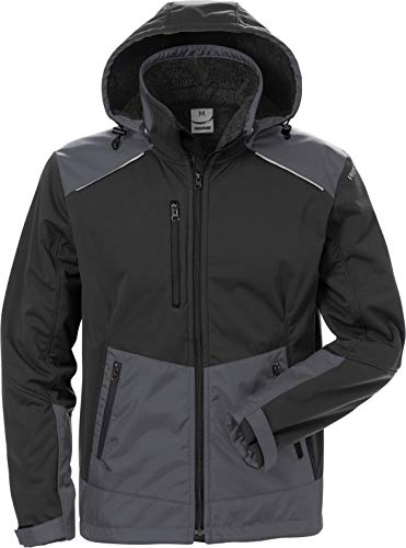 FRISTADS Softshell-Winterjacke 4060 CFJ schwarz/grau Größe L