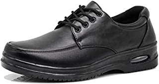 AL Mens Black Oil Resistant Professional Industrial Anti Slip Restaurant Rubber Air Sole Working Comfy Shoes