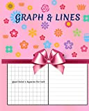 Graph & Lines: Quad Ruled 4 squares per inch Blank Graph with Lined Paper Composition Notebook Notebook For Children and Women 8 x...