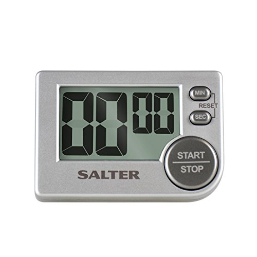 SALTER Big Button digitale Küchenuhr, Elektronischer Timer, Stopuhr, Erinnerungsfunktion, Lauter Alarm, Magnetische Rückseite, Standbein, klares Display, bis zu 99min 59sek