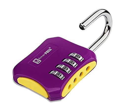 Zahlenschloss mit 4 Ziffern/Sicherheit für Ablagefach, Garderobe, Schrank, Tür/Schloss ohne Schlüssel, zweifarbig, hart und robust