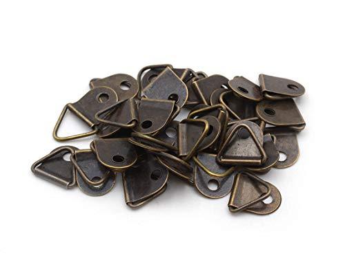 Vintageparts Aufhängung für Bilderrahmen aus Eisen in antik Bronze 30 Stück Bilderrahmenaufhängung Bastelmaterial Foto Fotorahmen Befestigung Aufhängung