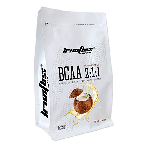 Iron Flex BCAA 2-1-1-1 Pack - Branched Chain Amino Acids in Powder - Muscle Regeneration - Anticatabolic (Pina Colada, 1000g)