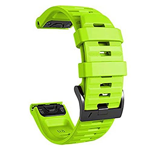 Silicone Band Compatible with Fenix 5X/Fenix 5XPlus/Fenix 6X Pro Watch and Fenix 5X 26mm Width Strap (Green)