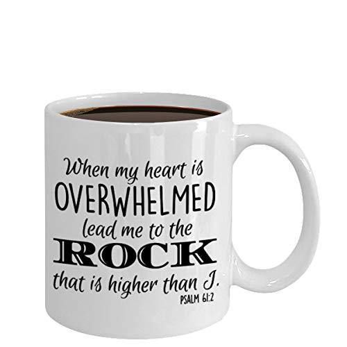 Christian Mug Coffee Tea Cup Gift Bible Verse Quote Present for Religious Men Women Novelty Faith Mug Ceramic 11oz Printed in USA