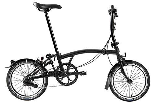 Brompton Faltrad S6L Black Edition 2020 Glanz Schwarz Leicht Faltbar 11,88kg Herren und Damen Cityfahrrad