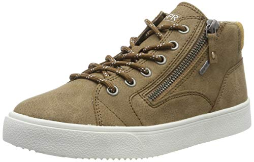 ESPRIT Damen Cherryzipbootie Hohe Sneaker, Braun (Toffee 225), 38 EU