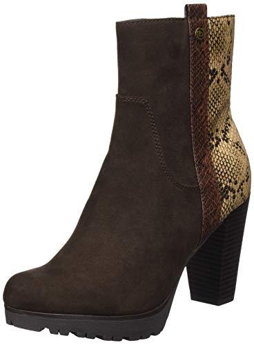 bugatti Damen 411-58136-6458 Stiefelette, Mehrfarbig (dark brown / multicolour), 39 EU