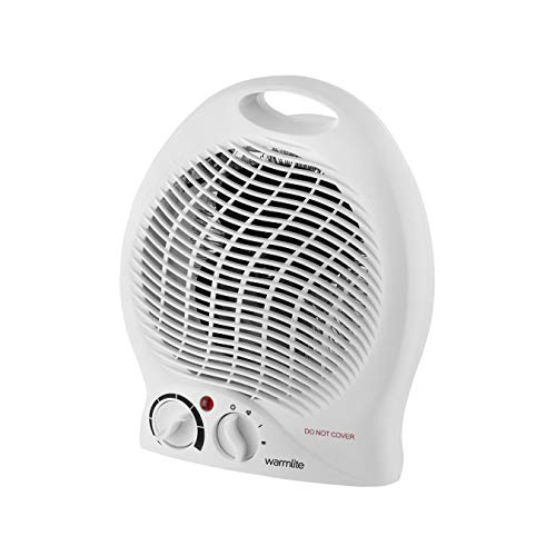 Warmlite WL44002 Thermo Fan Heater with 2 Heat Settings and Overheat Protection
