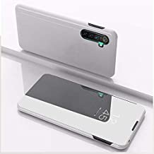 For OPPO Realme XT / K5 / Realme X2 Plated Mirror Horizontal Flip Leather Cover with Stand Mobile Phone Holster New(Silver) Sunsshine (Color : Silver)