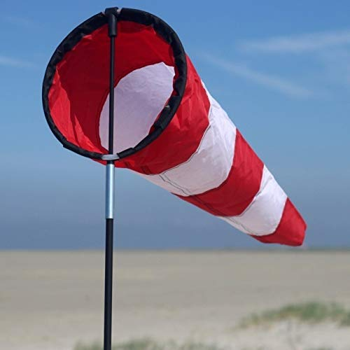 Wolkenstürmer Westwind Windsack, 75 cm, maritimes Dekorationsobjekt und Windspiel für Garten und Balkon, inkl. Glasfaserstab