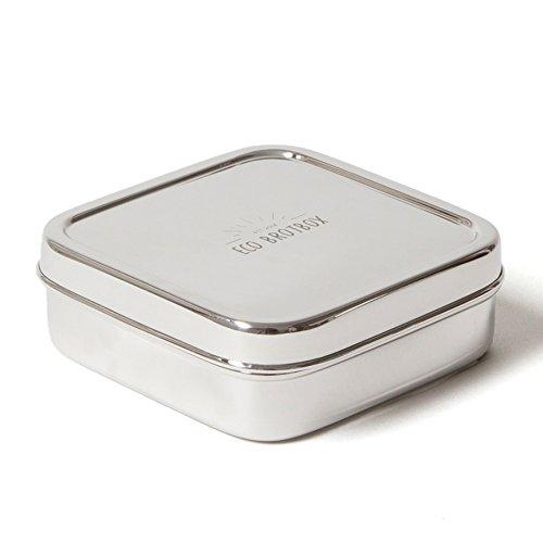 ECO Brotbox | Brotbox Classic | quadratische Brotdose aus Edelstahl | 500 ml