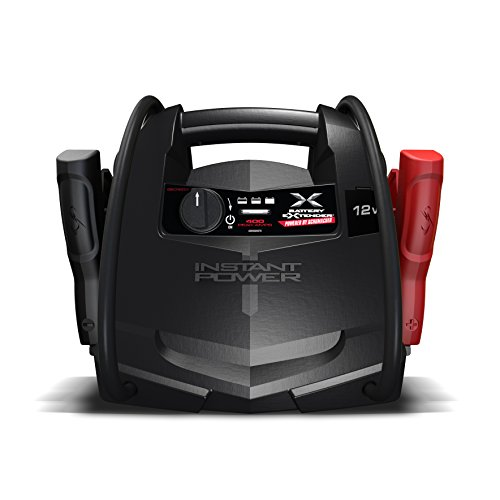 Schumacher BE01253 400 Amp 12V Rechargeable AGM Jump Starter Starts 4.0L - Gas vehicles 12V DC Power for Charging Phones/Tablets