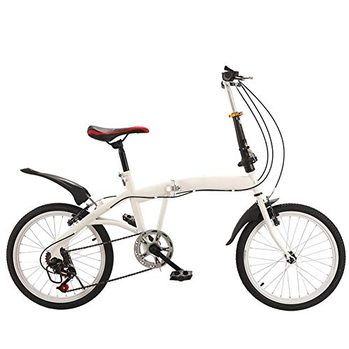 Bicicletas Plegables Adulto 7 Velocidades 20 Pulgadas Doble Frenos En V, Ligero Alto Acero Carbono Material, Plegable Manillar Y Cuadro Antideslizante Moma Bikes