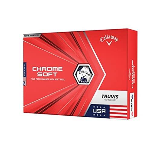 2020 Callaway Chrome Soft Golf Balls (Stars and Stripes Truvis )