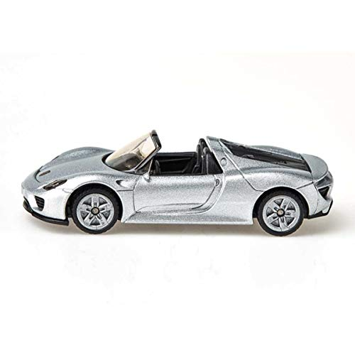 Siku 1475, Porsche 918 Spyder, Metall/Kunststoff, Spielzeugauto für Kinder, blau, Bereifung aus Gummi