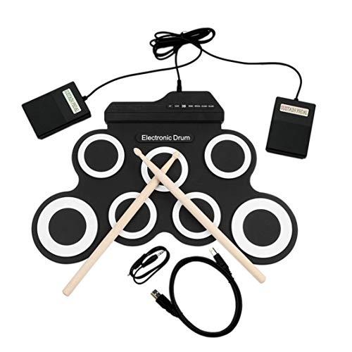 Candybarbar Batería electrónica USB G3002 Batería Kit de batería Instrumento de percusión para niños Roll-up Plegable de Silicona Engrosada