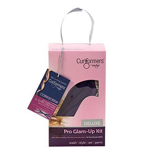 Curlformers Deluxe Glam-Up - Lockenstyling-Set für Korkenzieherlocken - für sehr langes Haar bis zu einer Länge von 55 cm - ohne Hitze - mit 20 Lockenwicklern und 1 Stylinghaken