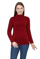 Renka mahroon Color winter Pullover for Women