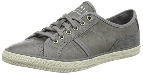 ESPRIT Megan Lace Up, Damen Sneakers, Grau (030 grey), 39 EU