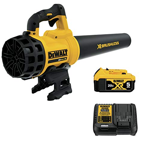 DEWALT 20V MAX XR Blower, Brushless, 5-Ah Battery...