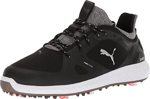 PUMA Herren Wide Ignite Pwradapt, Golf-Schuhe, schwarz/schwarz, 39 EU
