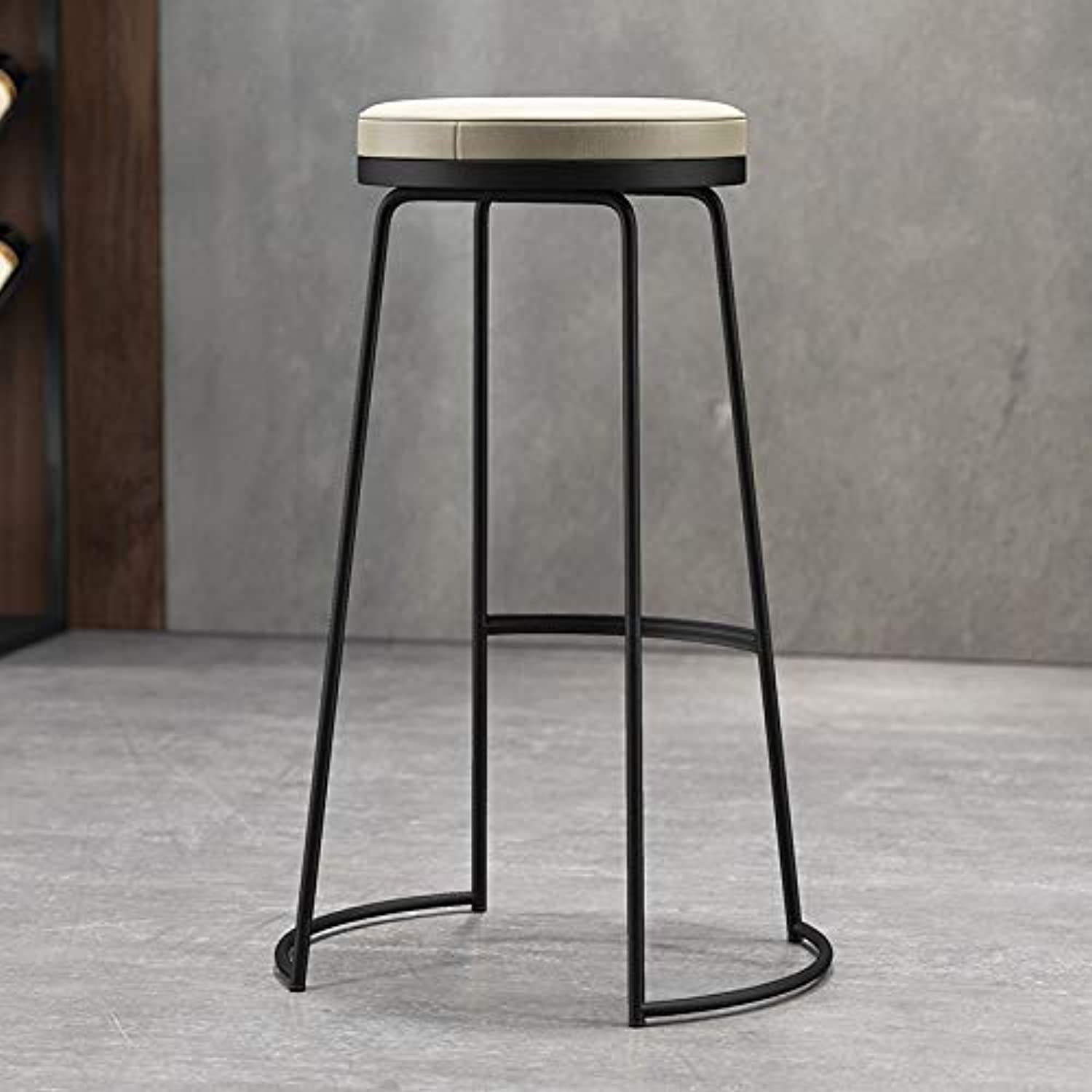Coffee Bar Bar Stools, Restaurant Hotel Counter Bar Chair Round Without Backrest Fashion Bar Stool Simple Creative Bar Stool (color   B, Size   30.5  50  45CM)