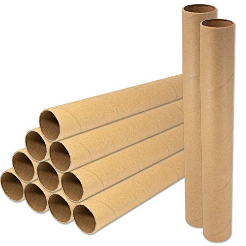 Sturdy 12 inch Paper Cardboard Tube Craft Rolls 22 Pieces