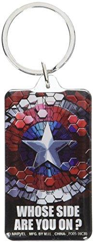 Marvel Captain America Civil War Shield Rectangular Lucite Key Ring