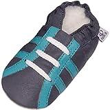 Zapatillas De Cuero Pantuflas Zapatos Infantiles Zapatos de gateo...