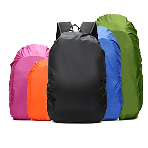 Backpack Rain Cover (15-90L) Upgraded Triple Waterproofing, 100% Waterproof Backpack Cover, Anti-Slip Cross Buckle Strap & Rainproof Storage Pouch, for Hiking, Camping, Traveling (Fuchsia, S)