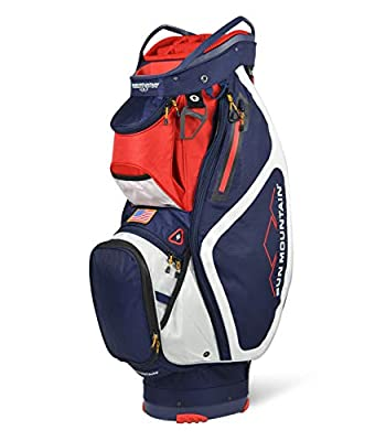 Sun Mountain 2021 Maverick Golf Cart Bag (Navy-White-RED)