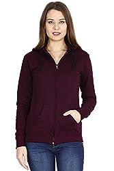 FLEXIMAA Womens Cotton Hoodie T-Shirt
