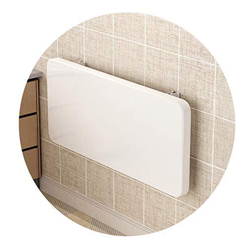 Mesa Plegable Pared Almacenamiento Fijo En La Pared Escritorio Pared Blanco Espesar 2,5 De Espesor Fácil De Limpiar Usado Para Restaurante Sala De Estar Ordenador ( Color : White , Size : 120X30CM )