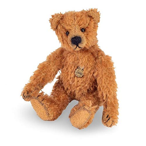 Hermann Teddy 15464 8 Antikbär Kuscheltier Teddybär Dunkelbraun sitzend 10 cm Miniaturbär limitiert 150 St. Plüschtier Stofftier Kinder Baby Spielzeug