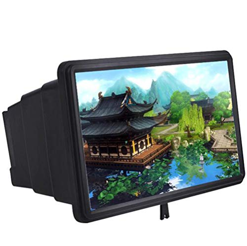 LQ&XL Mobile Phone 3D Screen Magnifier Amplifier Stand, 12in 2-4X Enlarging Effect HD Cell Phone...